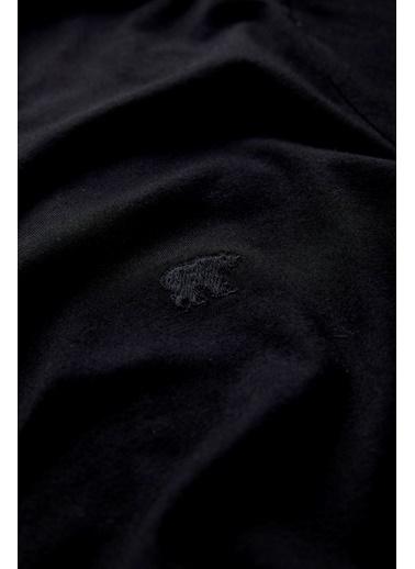Bad Bear Erkek Tişört V Collar 190107060-Wht Siyah